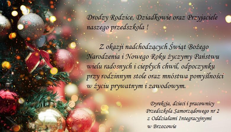 Radosnych Świąt Bożego Narodzenia ! :)