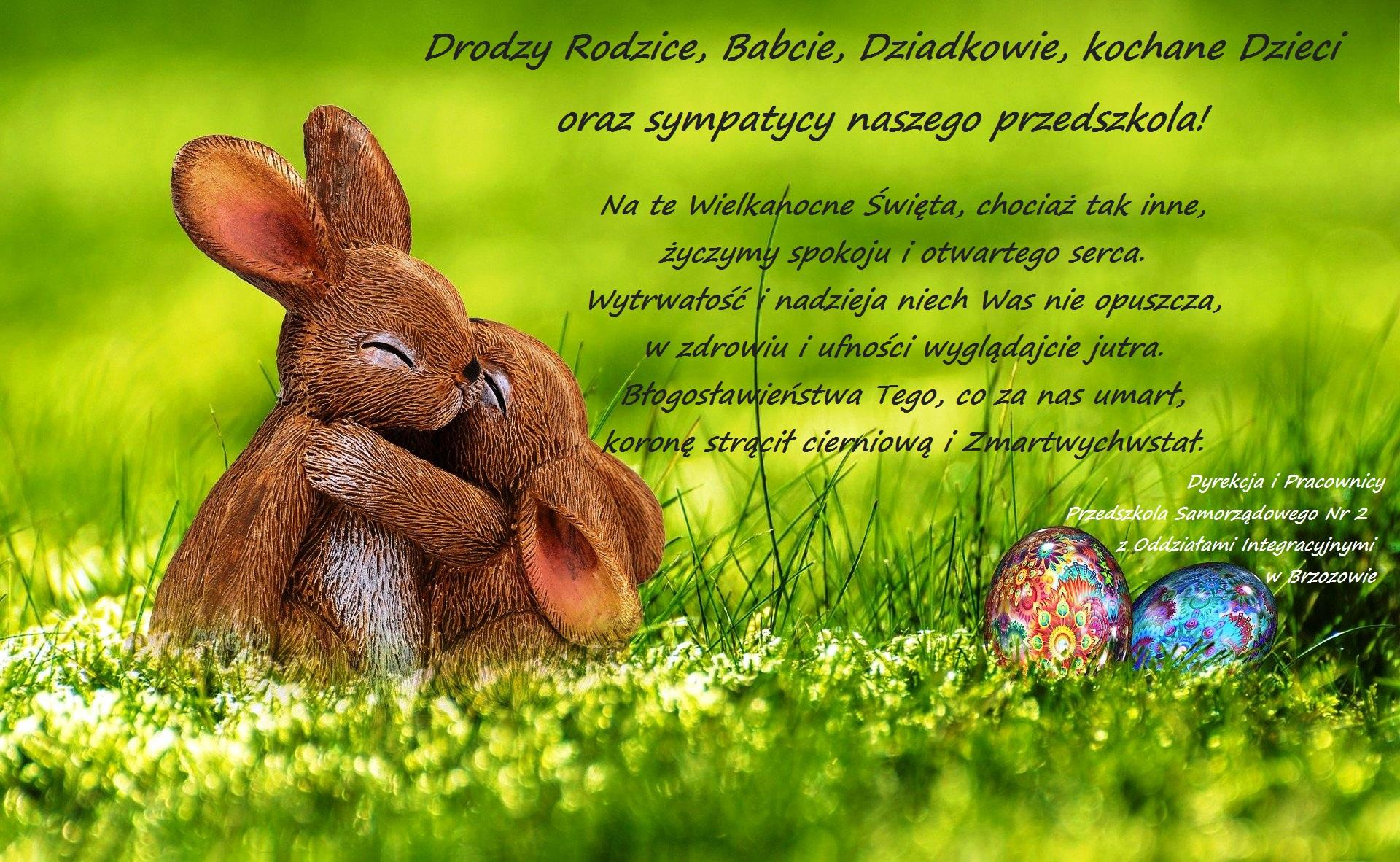 Zdrowych i spokojnych Świąt Wielkanocnych !